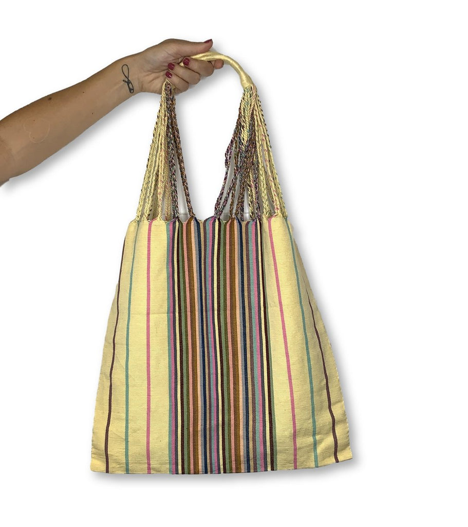 Poppy Striped Tote - NEW