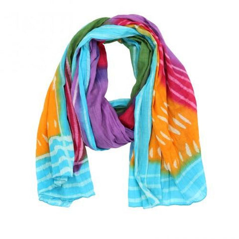Rainbow Connection Cotton Scarf