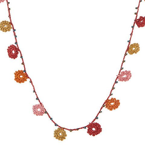 Crochet Flower Necklaces