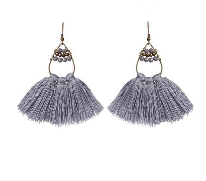 Summer Fringe and Beaded Earrings- Thailand NEW!