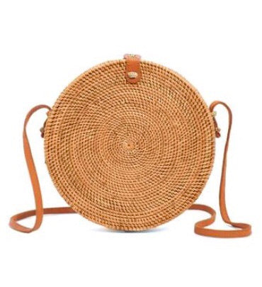 Round Ata Grass Handbag - Medium NEW