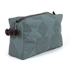 Hand-Blocked Printed Cotton Toiletry/Cosmetic Bags - Mosa Mer