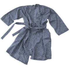 Hand-Blocked Printed Cotton Robe -  Troye Ocean NEW!