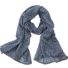 Hand-Blocked Printed Cotton Voile Scarves - Troye Ocean