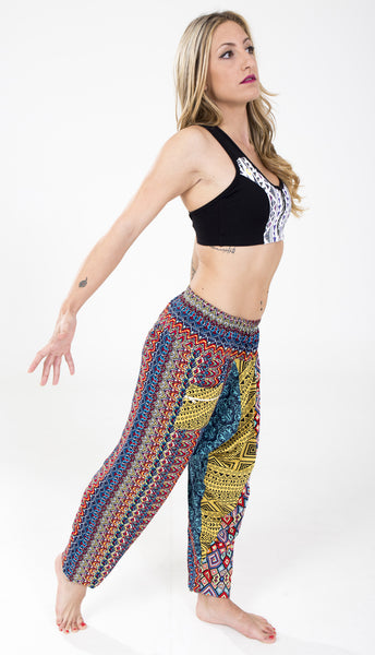 Creative and Unique Harem and Yoga Pants by Free Flying Fish. Unique Clothing, Ecofashion, Sustainable Fashion, Free Flying Fish, Yoga Clothes, Women Clothes, Splitters
