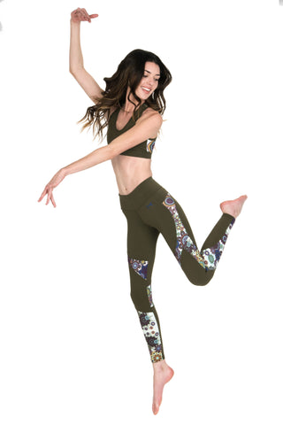 Flywear Mandala Olive Leggings