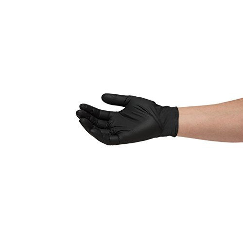 200 LARGE NITRILE BLACK WORK GLOVES LATEX-FREE POWDER-FREE STRONG DURABLE