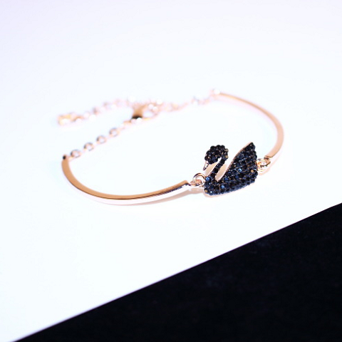 Swan Shaped Cute Bracelet Gold Colour Women Jewellery