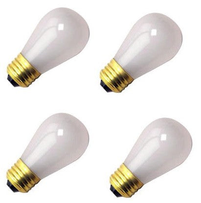 (Pack Of 4) Damar 11S14/IF 11 Watt s14 Incandescent Frost, Light Bulb, Medium (E26) Standard Household Base