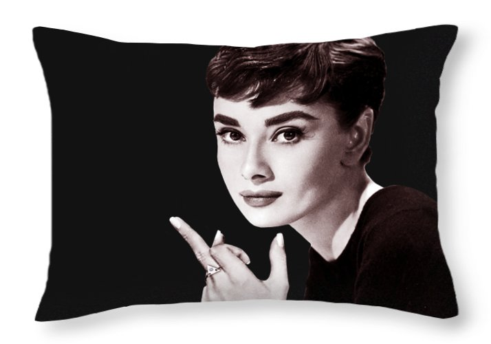 Audrey Hepburn - Throw Pillow