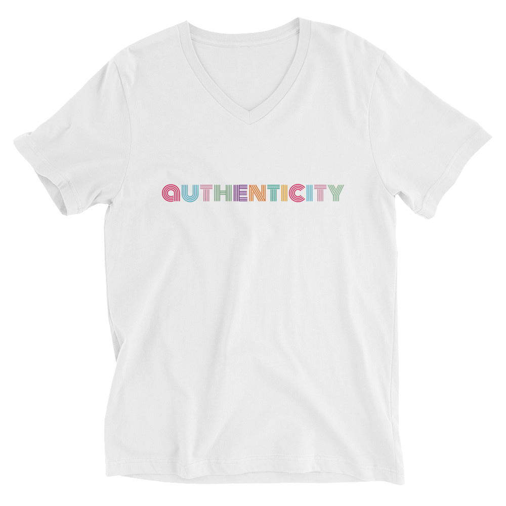 Be Authentic  Women's Short Sleeve V-Neck T-Shirt