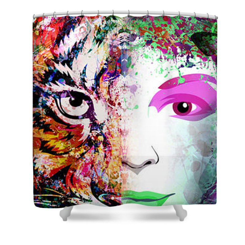 Tiger Spirit Animal - Shower Curtain