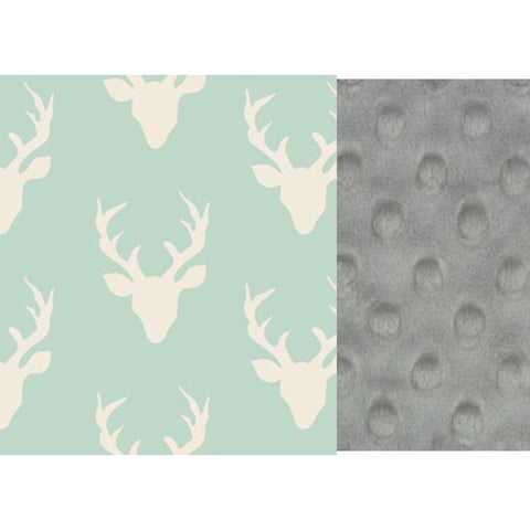 Buck in Mint/Grey