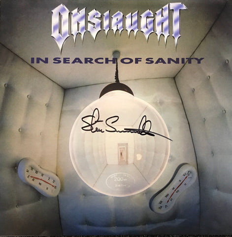 Onslaught - In Search of Sanity (signed copy)