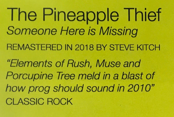 Pineapple Thief - Someone Here Is Missing