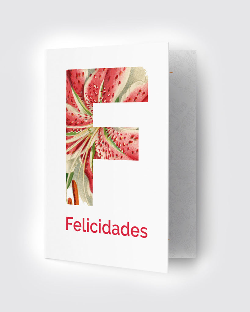 Tarjeta Felicidades Flores de The Build Love Company® en www.thebuildlove.co