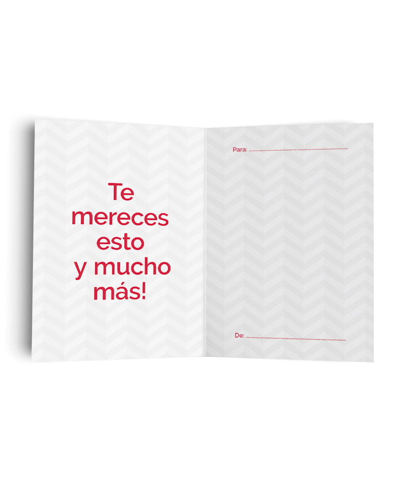 Tarjeta Felicidades Geométrico de The Build Love Company® en www.thebuildlove.co