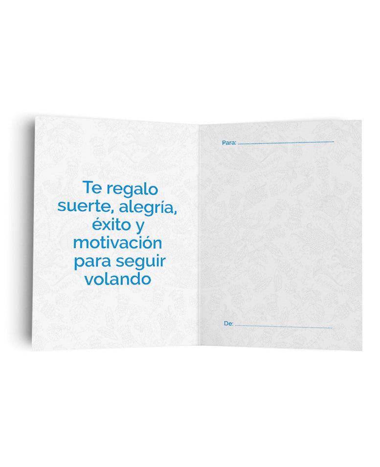 Tarjeta Volar Flores de The Build Love Company® en www.thebuildlove.co