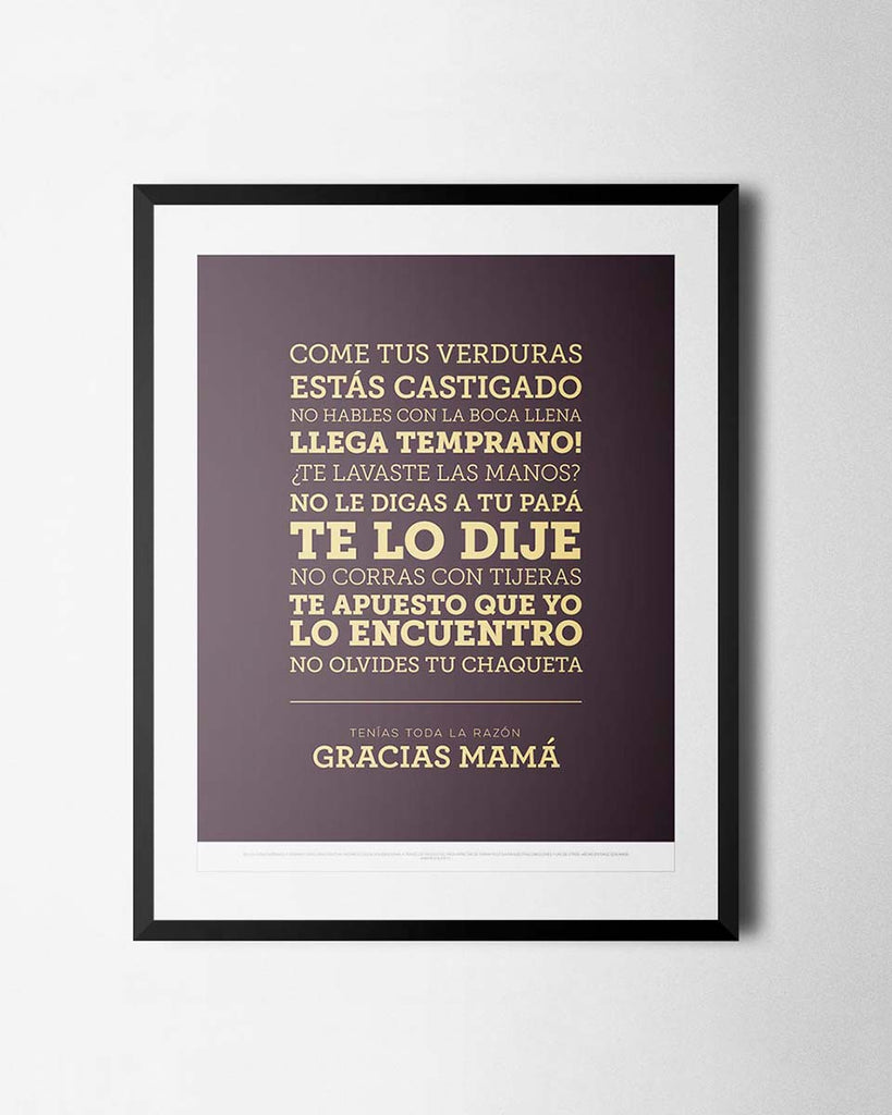 Cuadro Frases de Mamá de The Build Love Company® en www.thebuildlove.co