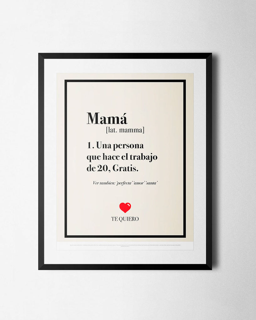 Cuadro Definición de Mamá de The Build Love Company® en www.thebuildlove.co
