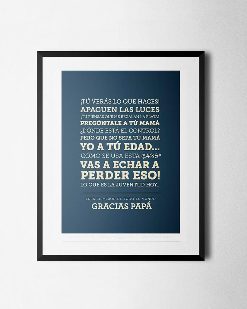 Cuadro Frases de Papá de The Build Love Company® en www.thebuildlove.co