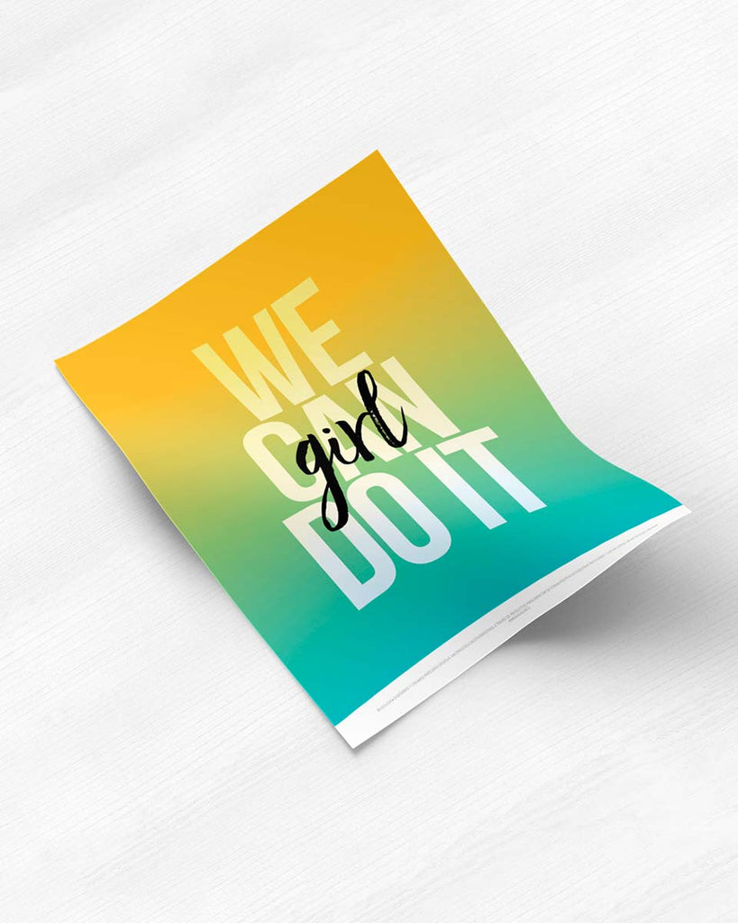 Poster Do It Girl de The Build Love Company® en www.thebuildlove.co
