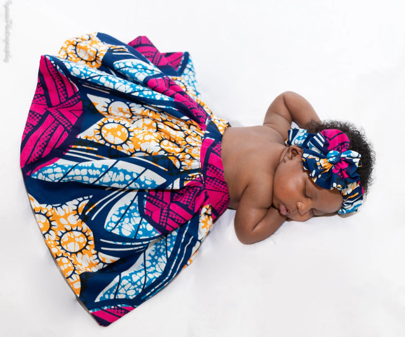 African Print New Born Outfit - NOELLE