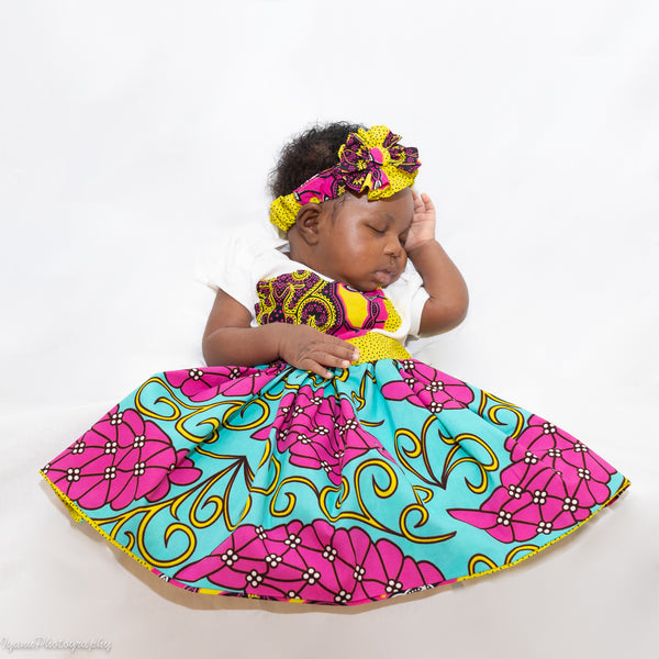 African Print New Born Outfit