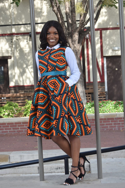 Ify African Print Dress