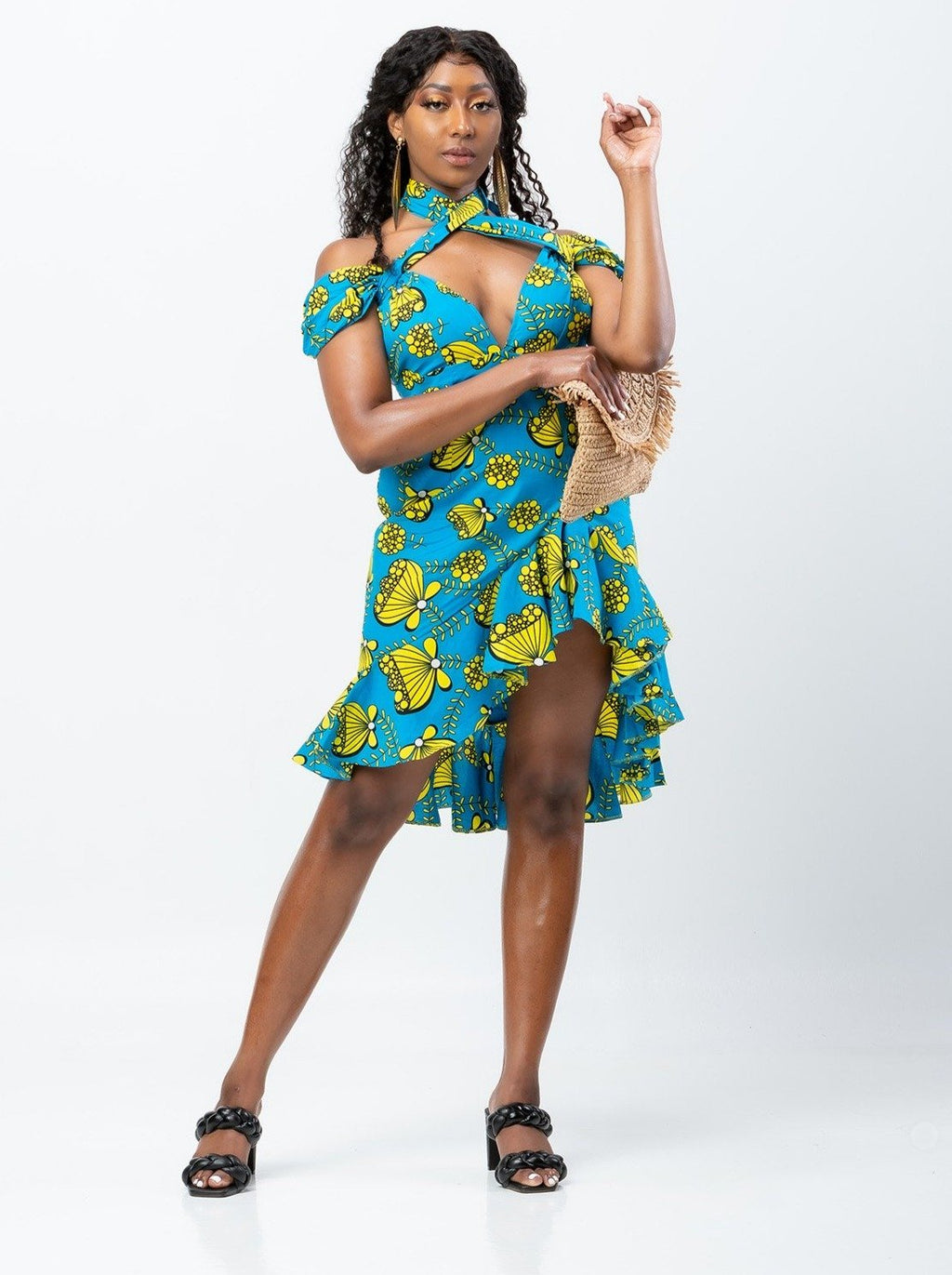 African Infinity wrap Dress