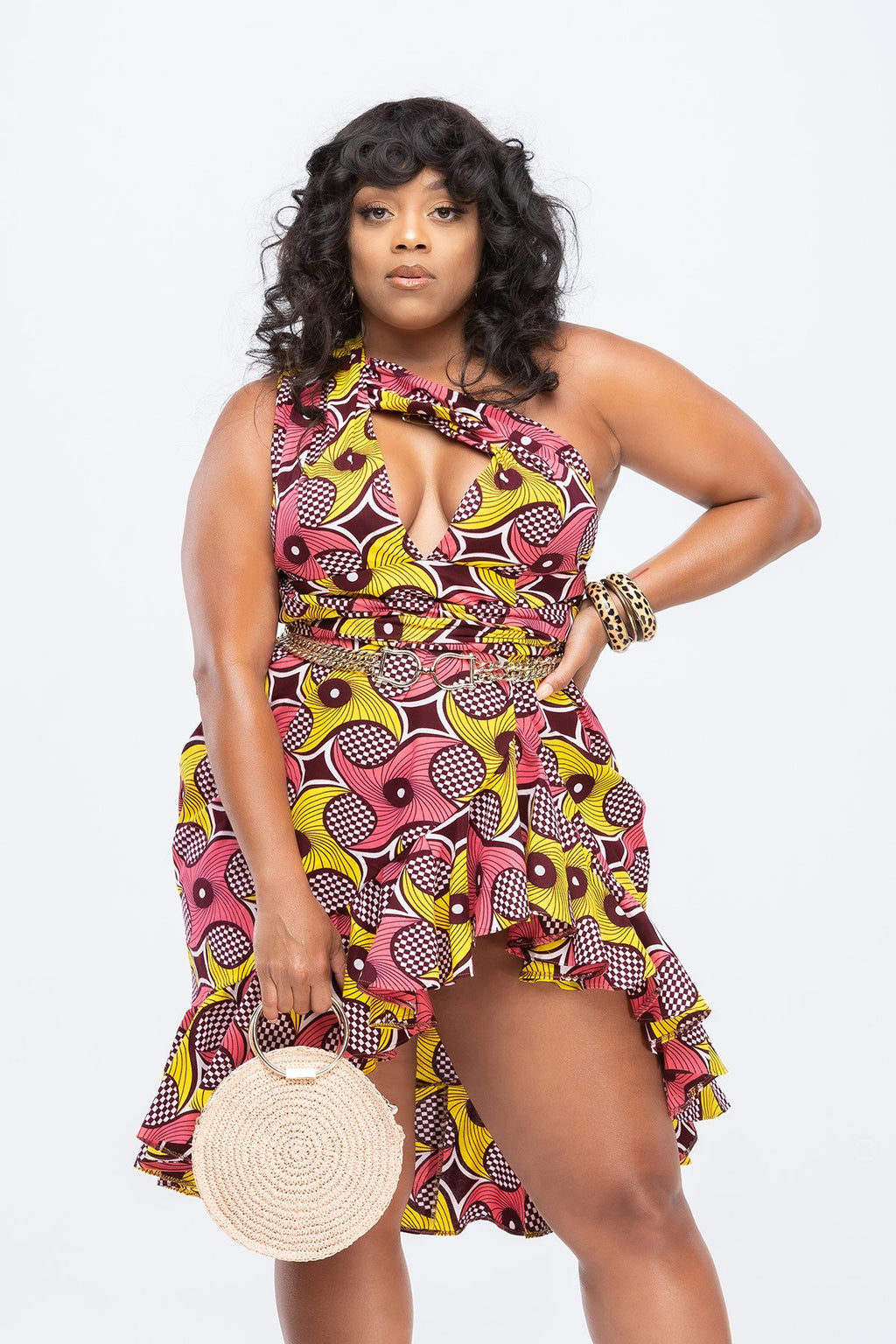 African Print Belle Infinity Wrap Dress