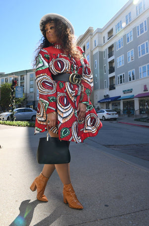 Afrcan shirt dress by Black owned business