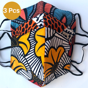 African Face Mask with Filter Pocket