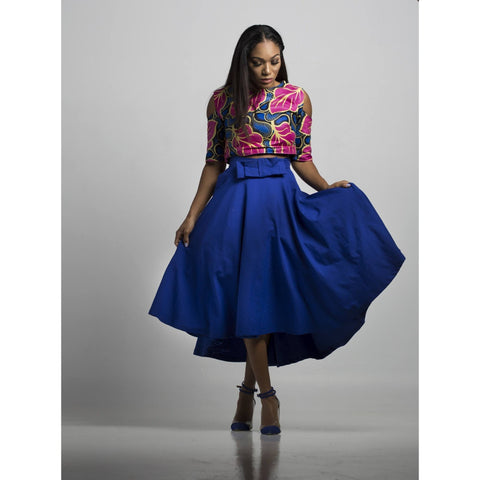 Summer Cold Shoulder Crop Top - N'omose Couture