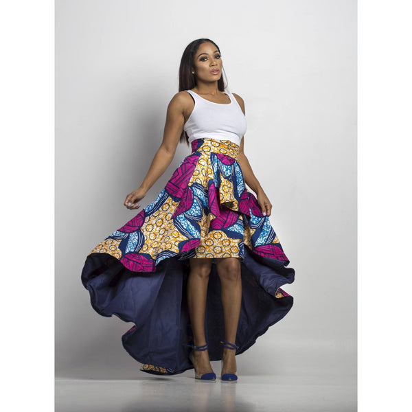 High Low Skirt - Pink - N'omose Couture
