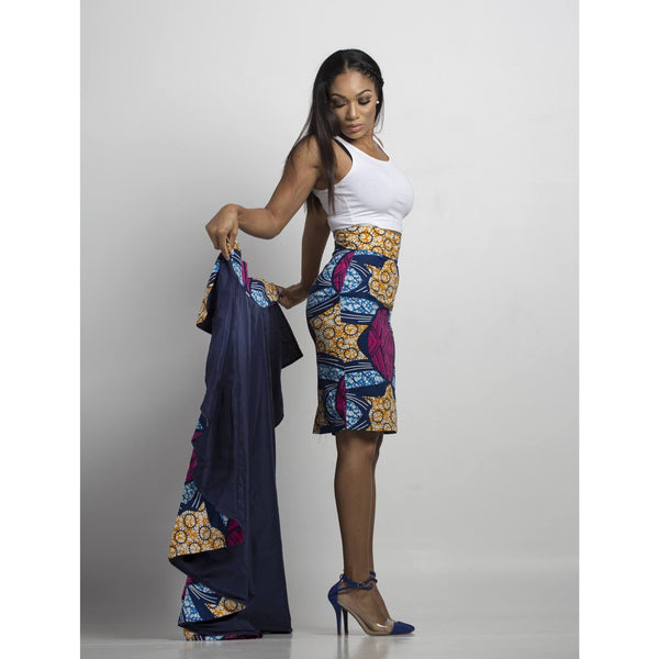 Detachable  Skirt - Pink - N'omose Couture