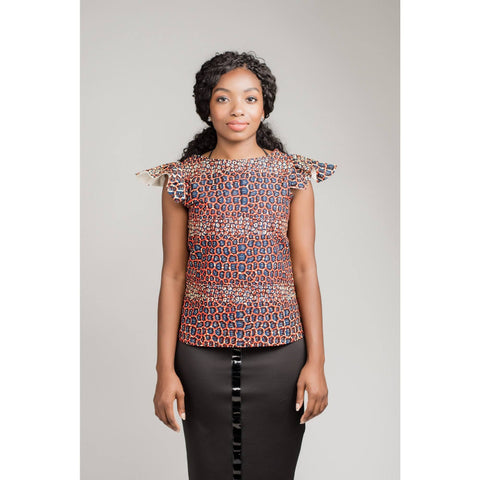 Otiti top - Red - N'omose Couture
