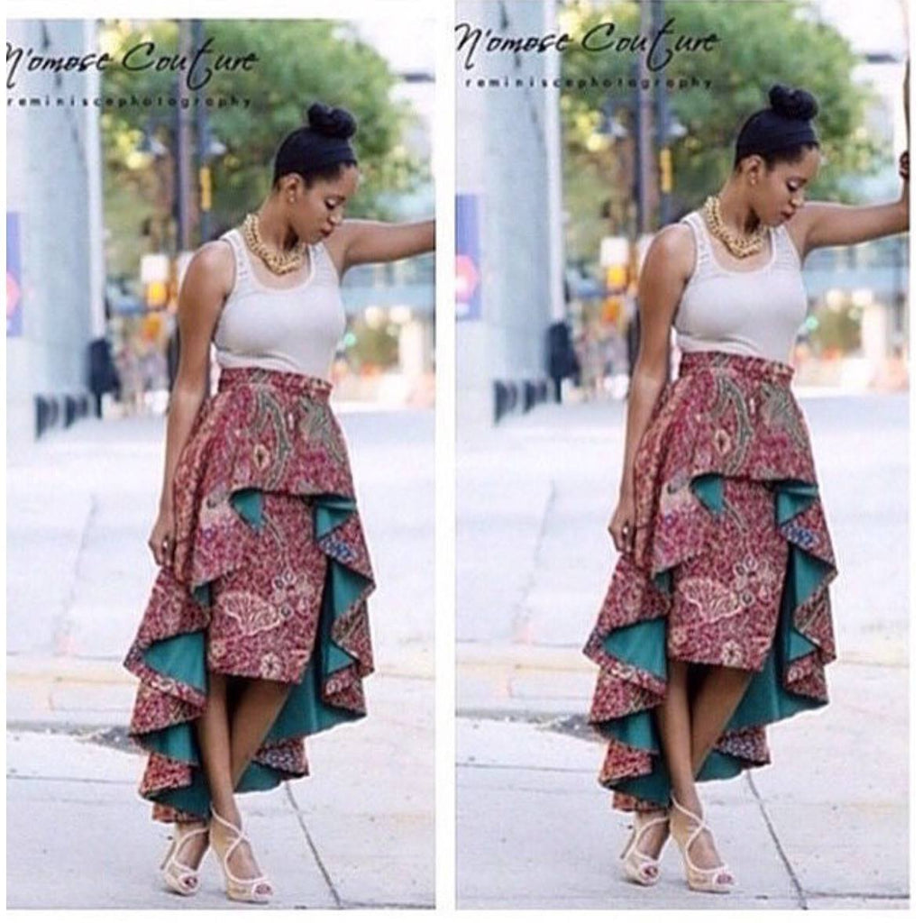 African High Low Skirt   - N'omose Couture