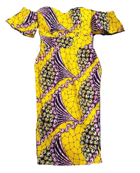 African Print corset dress