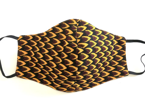 African Print Face Mask with Filter Pocket
