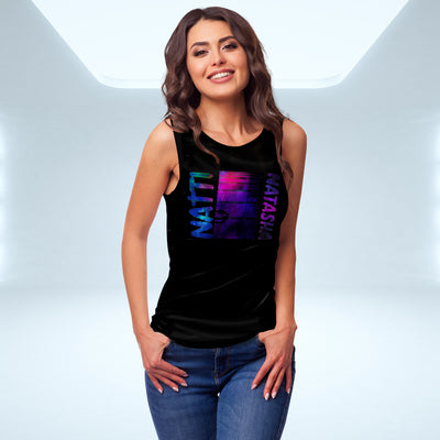 'This is Natti' Cosmos Tank - Black