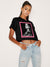 Iluminatti Photo Crop Tee - Black