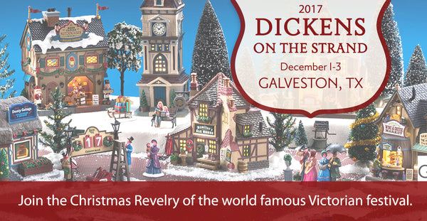 Join Gift Spice at Dickens on the Strand in Galveston, Texas December 1-3
