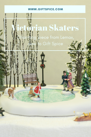 New to Gift Spice, Lemax's Victorian Skaters