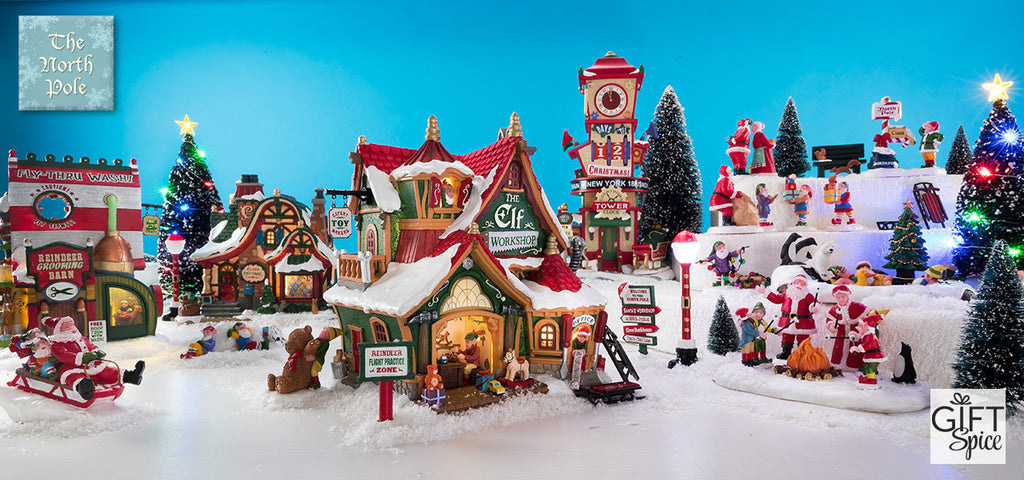 welcome to santas home the north pole collection features pieces from the lemax santas wonderland collection join santa and his elves in preparation for - Santa And The North Pole