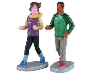 Lemax 02921 Autumn Jog, Set of 2, Figurine- Gift Spice