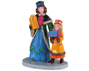 Lemax 02933 Shopping For Surprises, Figurine- Gift Spice