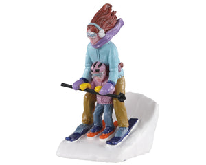 Lemax 02938 Mommy & Me Ski, Figurine- Gift Spice