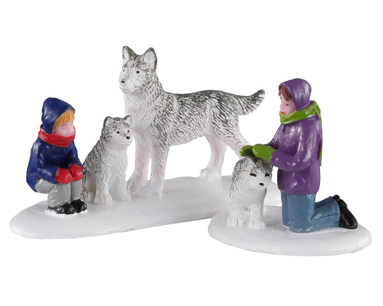 Lemax 02941 Future Sled Dogs, Set of 2, Figurine- Gift Spice