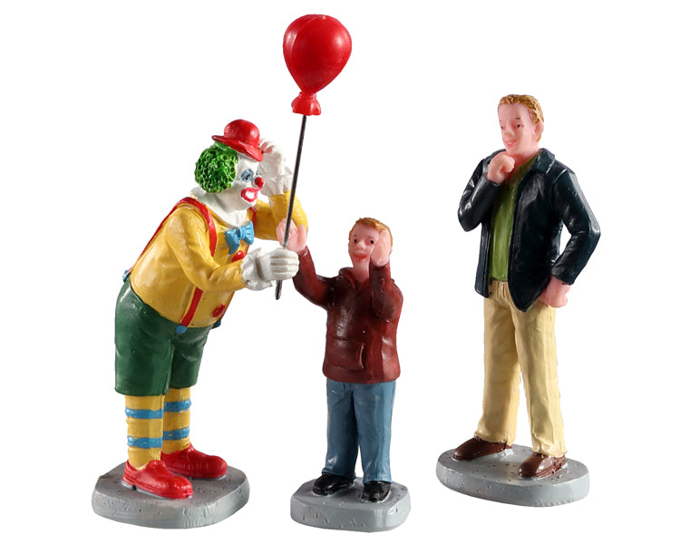 Lemax 02953 Friendly Clown, Set of 3, Figurine- Gift Spice